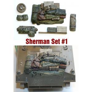 SH001 1/35シャーマン エンジンデッキ デッキセット #1 (7 個) ※M4A3用 asukamodel-netshop