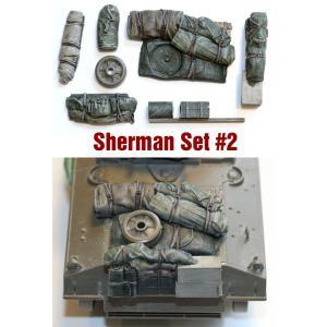 SH002 1/35シャーマン エンジンデッキ デッキセット #2 (8 個) ※全部に使えます asukamodel-netshop