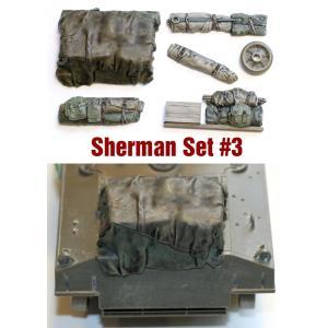 SH003 1/35シャーマン エンジンデッキ デッキセットアスカモデル バリューギア レジン AFV用パーツ #3 (7 個) ※M4A3用 asukamodel-netshop