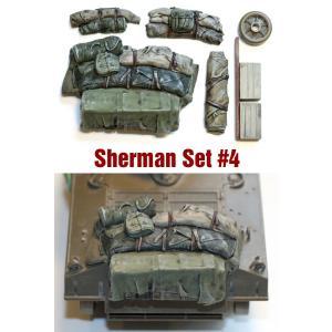 SH004 1/35シャーマン エンジンデッキ デッキセット #4 (7 個) ※M4A3用 asukamodel-netshop