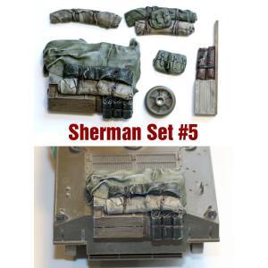 SH005 1/35シャーマン エンジンデッキ デッキセット#5 (7 個) ※M4A3用 asukamodel-netshop