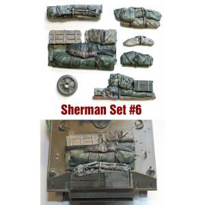 SH006 1/35シャーマン エンジンデッキ デッキセット#6 (8 個) ※全部に使えます asukamodel-netshop