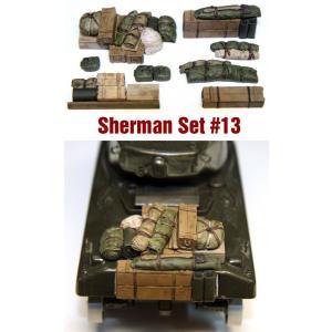SH013 1/35シャーマン エンジンデッキ デッキセット#13 (8 個) ※全部に使えます asukamodel-netshop