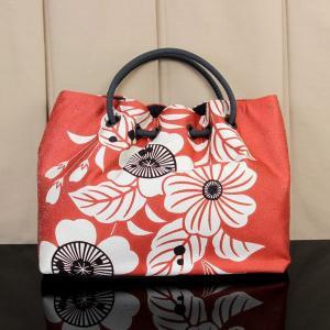 【あすつく】京都 栗山吉三郎謹製 和染紅型 バッグ「池田桜」bag1404|asukaya