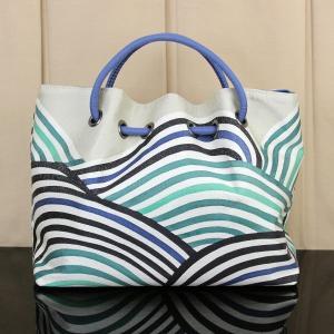 【あすつく】京都 栗山吉三郎謹製 和染紅型 バッグ「波」bag1406|asukaya