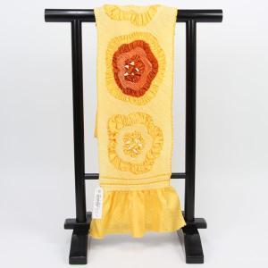 渡敬謹製 振袖用 総絞り 帯揚げ 四つ巻絞り柄 coa4143|asukaya