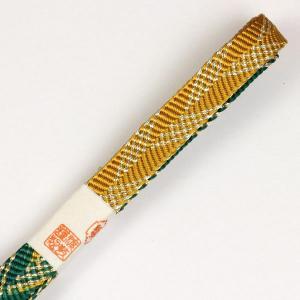 紐の渡敬謹製 平組 金糸 撚り房帯締め coj8229|asukaya
