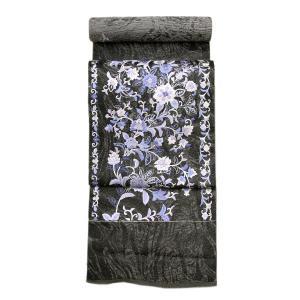 【お仕立て付き】単衣にも 尾峨嵯刺繍 相良刺繍・蘇州刺繍 三通 袋帯 fo2905 asukaya