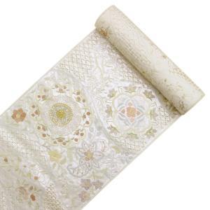 精緻縫い 祈繍工芸 汕頭(スワトウ)蘇州刺繍 レース刺繍 袋帯 fo2916 |asukaya|02