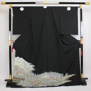 【お仕立て付き】◆本加賀友禅◆ 栂野 朗 作 黒留袖 伝統工芸品hm1114 asukaya