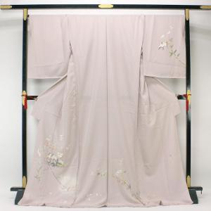 京加賀 友禅 松本健一 訪問着 丹後ちりめん 日本の絹 花意匠 hm1294|asukaya
