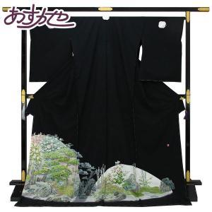 【お仕立て付き】◆本加賀友禅◆ 伝統工芸品 黒留袖 杉浦伸 作 「霞風景」 hm1674 asukaya