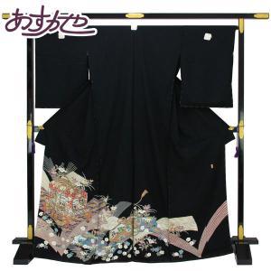 【お仕立て付き】◆本加賀友禅◆伝統工芸品 黒留袖 森村加泉作 「至宝興」 hm1677 asukaya