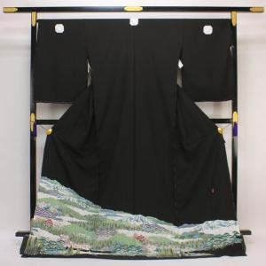 【お仕立て付き】◆本加賀友禅◆ 伝統工芸品 黒留袖 菊田宏幸 作 「古里」 hm1719 asukaya