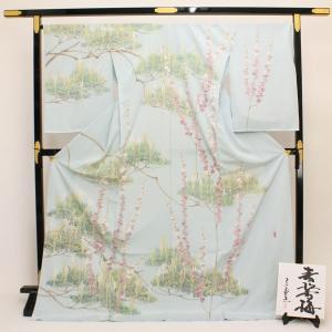 ◆本加賀友禅◆ 宮野 勇造 作 「青松香梅」 浜ちりめん 訪問着 hm1762|asukaya