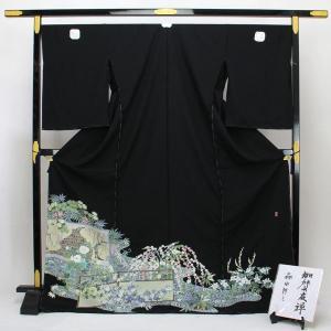 ◆本加賀友禅◆ 伝統工芸品 黒留袖 森田耕三 作 「真善美」 hm1925 asukaya