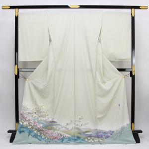 ◆本加賀友禅◆ 伝統工芸品 色留袖 横山秀一 作 「おはな松原」  hm1958 asukaya
