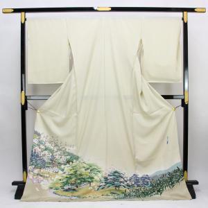 ◆本加賀友禅◆ 伝統工芸品 色留袖 横山秀一 作 「隣雲亭」  hm1959 asukaya