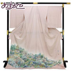 ◆本加賀友禅◆ 伝統工芸品 色留袖 多崎元人 作 「清庭」  hm1961 asukaya