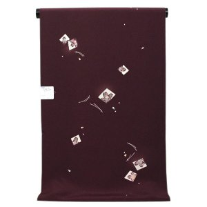 【東レ市】【単衣お仕立て付き】東レシルック 最高級素材 洗える 小紋 「紙模様と松の枝」 km2456|asukaya