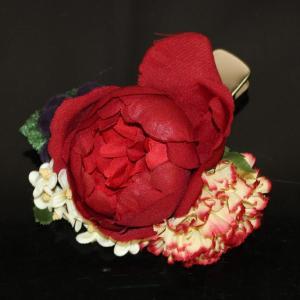 袴に 卒業式 コサージュ クリップ式 花飾り kom554|asukaya