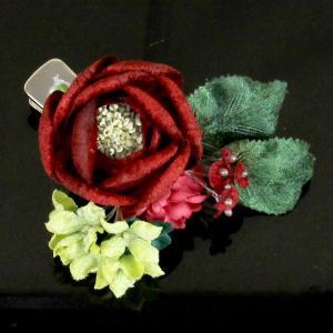 袴に 卒業式 コサージュ クリップ式 花飾り kom555|asukaya