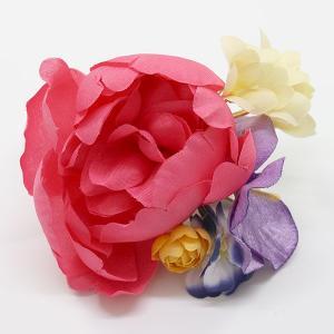 袴に 卒業式 コサージュ クリップ式 花飾り kom562|asukaya