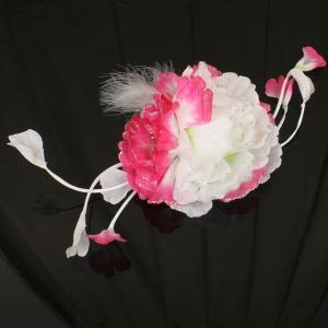 【あすつく】振袖用 髪飾り コームタイプ ふわふわ羽根 kz129|asukaya