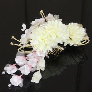 【あすつく】振袖に 花ごころ  髪飾り 大小 2個セット kz269|asukaya
