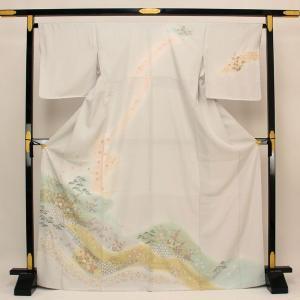 【お仕立て上がり】正絹胴裏 友禅訪問着 お茶席に L寸 pt2153|asukaya
