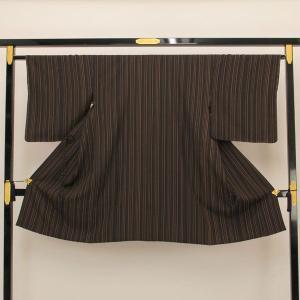 【お仕立て上がり】肩裏正絹 丹後ちりめん 日本の絹 粋 「やたら縞」 道中着 M寸 pt2353|asukaya