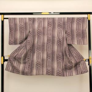 【お仕立て上がり】肩裏正絹 たたき染 紋織り地 「麻の葉文様」 道中着 M寸 pt2354|asukaya
