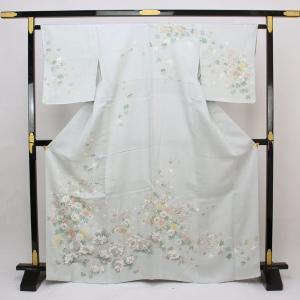 【お仕立て上がり】正絹胴裏  訪問着 金駒刺繍金彩加工    M寸 pt2650|asukaya