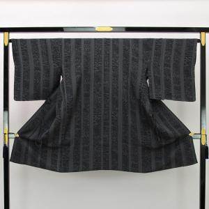 【お仕立て上がり】肩裏正絹 丹後ちりめん 日本の絹 翁格子紋織 道中着 L寸 pt3049|asukaya