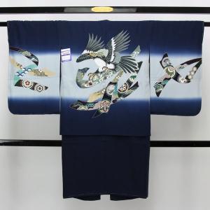 【お仕立て上がり】七五三用 正絹 羽織 晴れ着 五歳男子用 pt3250 asukaya