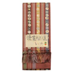 【あすつく】渡来間道 博多織 金印 紋小袋帯 松装織物謹製帯 soo1656 asukaya