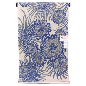 【夏物 お仕立て付き】東京本染 浴衣 源氏物語 麻と綿の布 「菊」ykt2536|asukaya