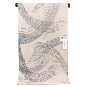 【夏物 お仕立て付き】東京本染 浴衣 源氏物語 麻と綿の布 ykt2539|asukaya