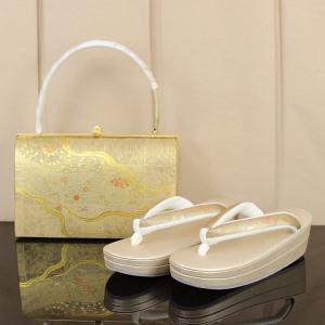 【祝!!婚礼特集】【あすつく】皇室ご用達取り扱い品メーカー 菊之好 きくのこのみ 礼装用 草履バッグセット M寸 zb2303|asukaya