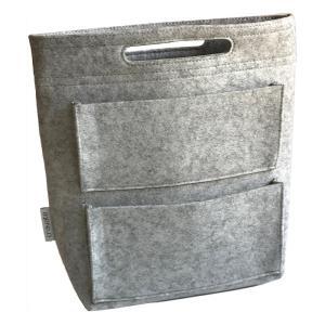 cravate バッグインバッグ ロングタイプ リュック用インナーバッグ ライトグレー