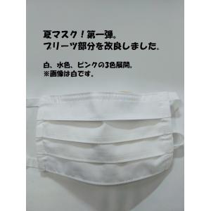 マスク 洗える夏用マスク(2枚組)プリーツ変更|asutoro
