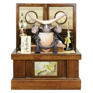 五月人形 伊達政宗 着用 兜収納飾り 兜飾り 高輝作 25号 塗桐 h025-fz-6e22-aa-727|asutsuku-ningyoya