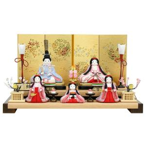 雛人形 コンパクト ひな人形 雛 木目込人形飾り 二段飾り 五人飾り 心絆 cocona 入目頭 h023-fz-4e45-cn-750 asutsuku-ningyoya