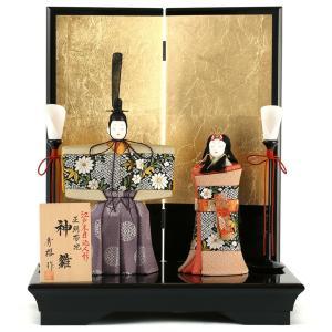 雛人形 一秀 ひな人形 雛 木目込人形飾り 平飾り 親王飾り 立雛 木村秀櫻作 神雛 正絹帯地 5号 h023-ia-137 asutsuku-ningyoya