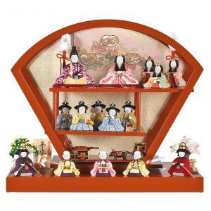 雛人形 一秀 ひな人形 雛 木目込人形飾り 段飾り 十五人飾り 木村一秀作 平安雛 12号 h023-id-007 asutsuku-ningyoya