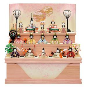 雛人形 一秀 ひな人形 雛 木目込人形飾り コンパクト収納飾り 三段飾り 十五人飾り 木村一秀作 平安雛 152号 LEDコードレス雪洞付 h023-id-023 asutsuku-ningyoya