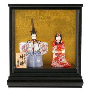 雛人形 一秀 ひな人形 雛 木目込人形飾り ケース飾り 親王飾り 立雛 木村一秀作 神雛 入れ目 0-1号 h023-ie-001 asutsuku-ningyoya