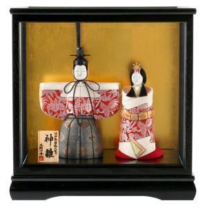 雛人形 一秀 ひな人形 雛 木目込人形飾り ケース飾り 親王飾り 立雛 木村一秀作 神雛 切替 2-5号 h023-ie-017 asutsuku-ningyoya