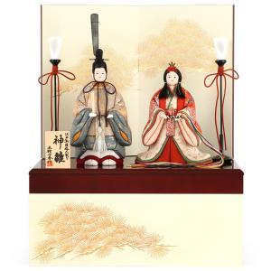 雛人形 一秀 ひな人形 雛 木目込人形飾り コンパクト収納飾り 親王飾り 立雛 木村一秀作 神雛 束帯雛 入れ目 h023-ie-054 asutsuku-ningyoya