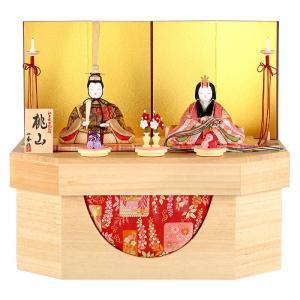 雛人形 一秀 ひな人形 雛 木目込人形飾り コンパクト収納飾り 親王飾り 木村一秀作 桃山雛 14号A 桐収納 h023-ih-018 asutsuku-ningyoya